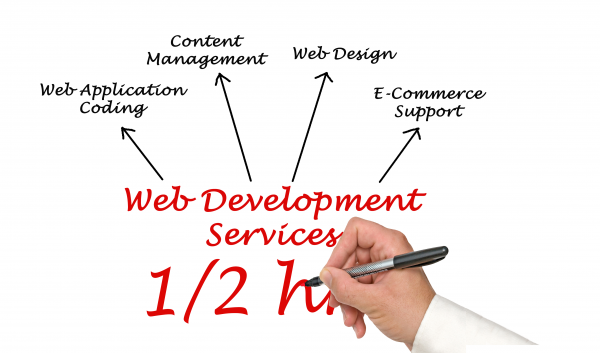 Half an hour of web development time on any task